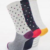 Ladies 3pk Socks.