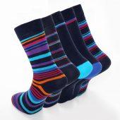 Men's 5pk Stripe Formal Dress Socks