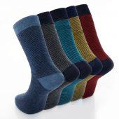 Men's 5pk Fine Stripe Formal Dress Socks