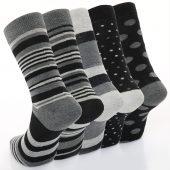 Men's 5pk Monochrome Formal Dress Socks