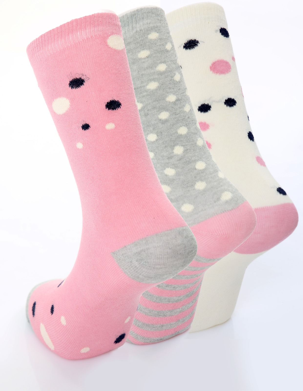 Ladies Spot Detail Socks